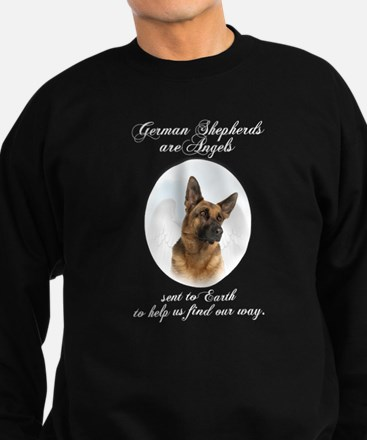German Shepherd Angel Sweatshirt (dark)