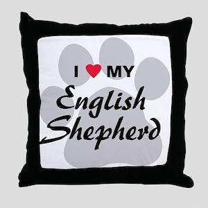 Love My English Shepherd Throw Pillow