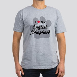 Love My English Shepherd Men's Fitted T-Shirt (dar