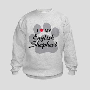 Love My English Shepherd Kids Sweatshirt