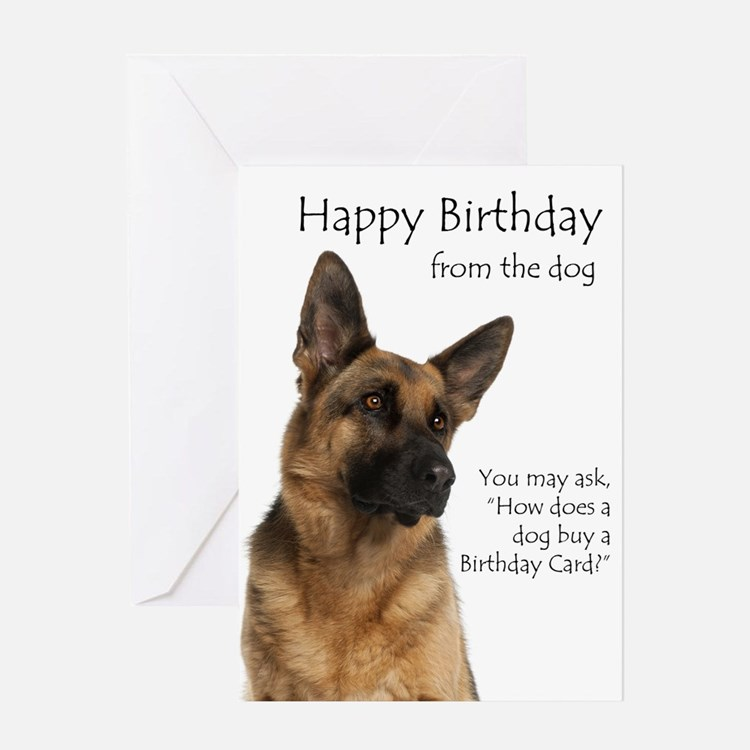 german shepherd birthday card pets greeting cards card ideas sayings designs templates 8542