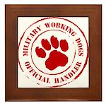 USMC Military Working Dogs Framed Tile