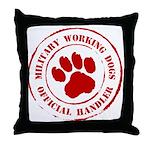 USMC Military Working Dogs Throw Pillow