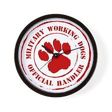 USMC Military Working Dogs Wall Clock