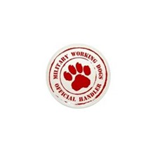 USMC Military Working Dogs Mini Button