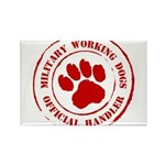 USMC Military Working Dogs Rectangle Magnet