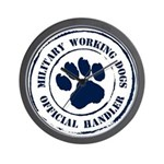 Navy Working Dogs Wall Clock