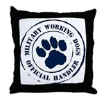 Navy Working Dogs Throw Pillow