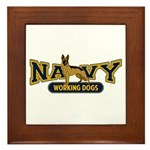 Navy Working Dogs Framed Tile