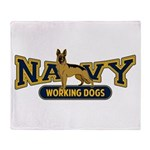 Navy Working Dogs Throw Blanket