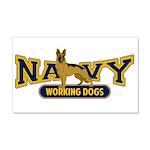 Navy Working Dogs 22x14 Wall Peel