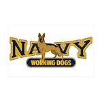 Navy Working Dogs 38.5 x 24.5 Wall Peel