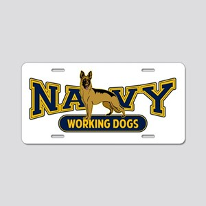 Navy Working Dogs Aluminum License Plate