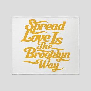 Brooklyn Love Yellow Throw Blanket