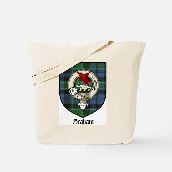 Graham Clan Crest Tartan Tote Bag