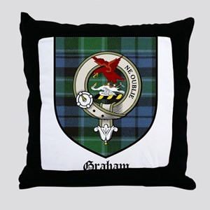 Graham Clan Crest Tartan Throw Pillow