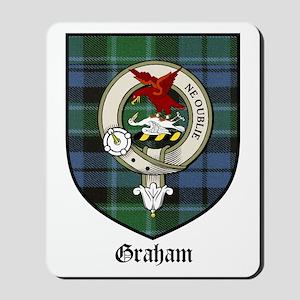 Graham Clan Crest Tartan Mousepad