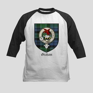 Graham Clan Crest Tartan Kids Baseball Jersey
