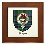 Graham clan crest tarten Framed Tiles