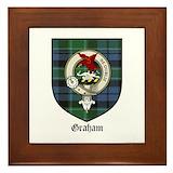 Graham clan crest tarten Framed Tiles