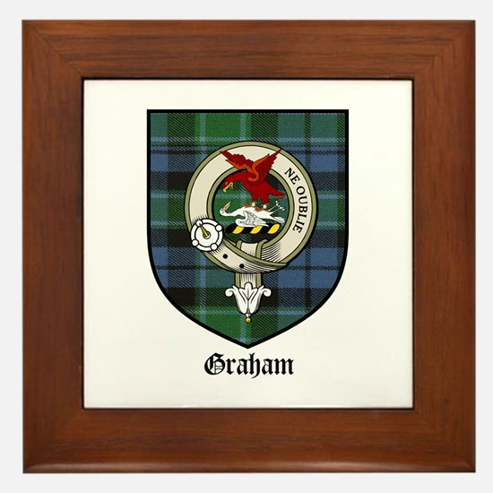 Graham Clan Crest Tartan Framed Tile