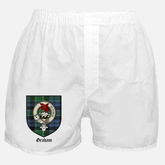 Graham Clan Crest Tartan Boxer Shorts