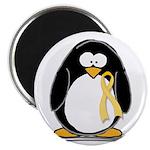 Yellow RIbbon penguin Magnet