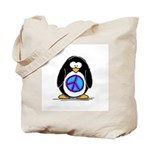 Peace penguin Tote Bag
