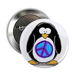 Peace penguin Button
