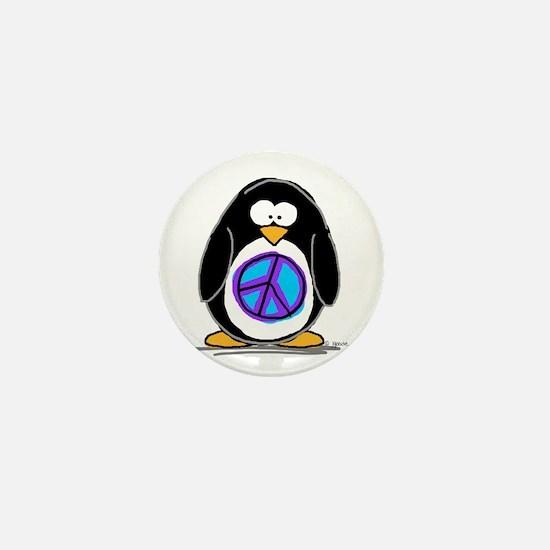 Peace penguin Mini Button