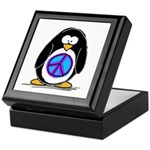 Peace penguin Keepsake Box