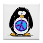Peace penguin Tile Coaster