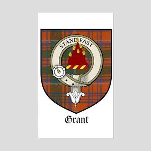 Grant Clan Crest Tartan Rectangle Sticker