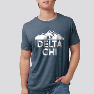 Delta Chi Mountains Mens Tri-blend T-Shirts