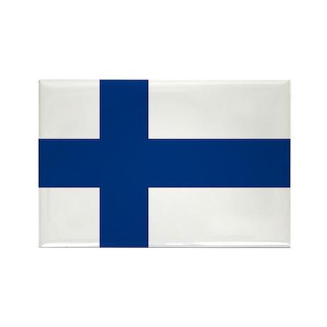 Finnish Flag Rectangle Magnet (100 pack)