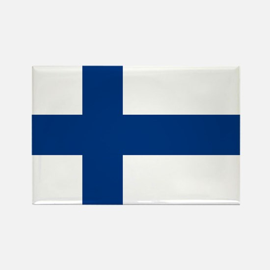 Finnish Flag Rectangle Magnet