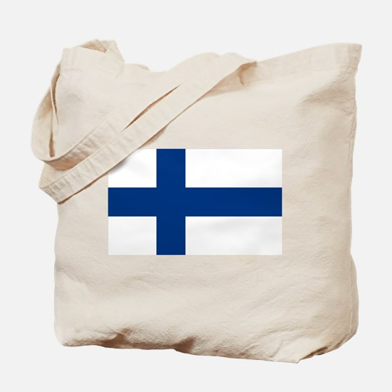 Finnish Flag Tote Bag