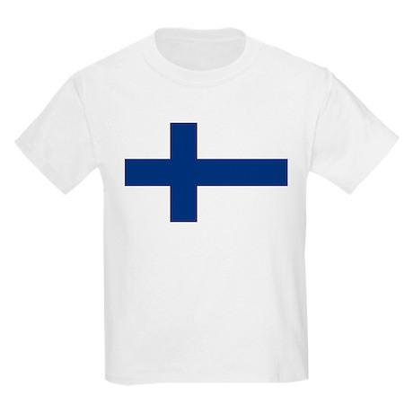 Finnish Flag Kids Light T-Shirt