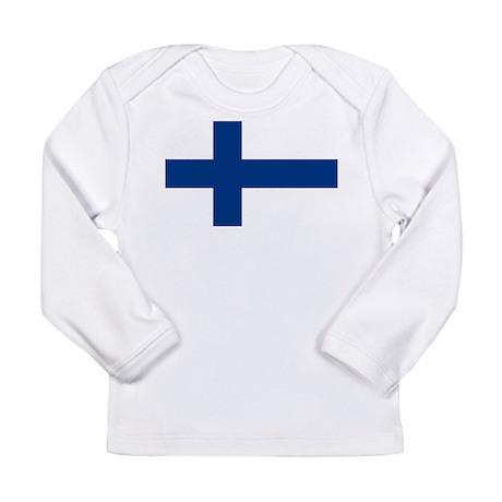 Finnish Flag Long Sleeve Infant T-Shirt
