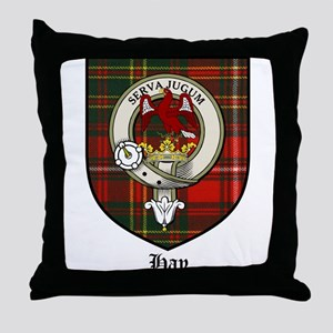 Hay Clan Crest Tartan Throw Pillow