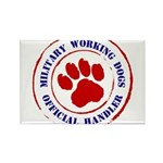 USCG Working Dogs Rectangle Magnet