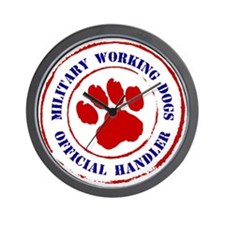 USCG Working Dogs Wall Clock