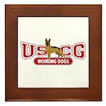 USCG Working Dogs Framed Tile