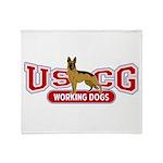 USCG Working Dogs Throw Blanket