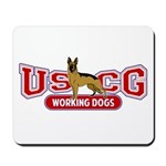 USCG Working Dogs Mousepad