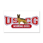 USCG Working Dogs Car Magnet 20 x 12