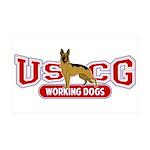 USCG Working Dogs 38.5 x 24.5 Wall Peel