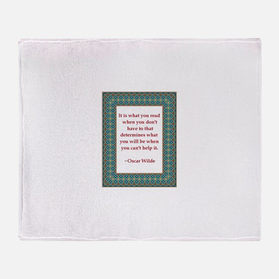 What You Read Throw Blanket
