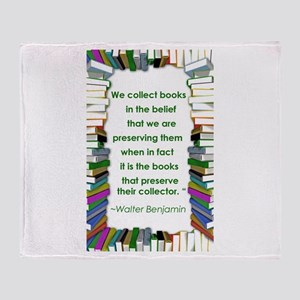 Walter Benjamin on Books Throw Blanket