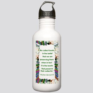 Walter Benjamin on Books Stainless Water Bottle 1.